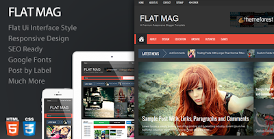 Flat Mag – Responsive Magazine Blogger Template