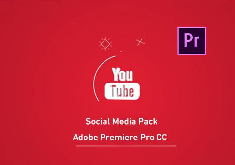 مشروع أدوبي بريمير لعرض وسائل التواصل الإجتماعي بشكل إحترافي Social Media Pack