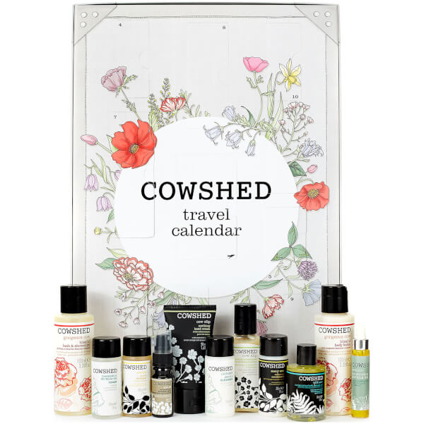 Here are the contents and spoilers of the Cowshed Travel Countdown Beauty Advent Calendar for Holiday 2017 - ships worldwide.