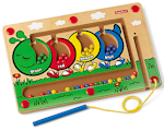 http://theplayfulotter.blogspot.com/2015/05/magnetic-colorpillar-maze.html