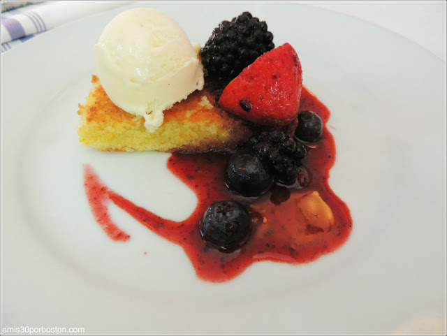 Dine Out Boston 2016: Olive Oil Cake, Macerated Berries, Vanilla Ice Cream