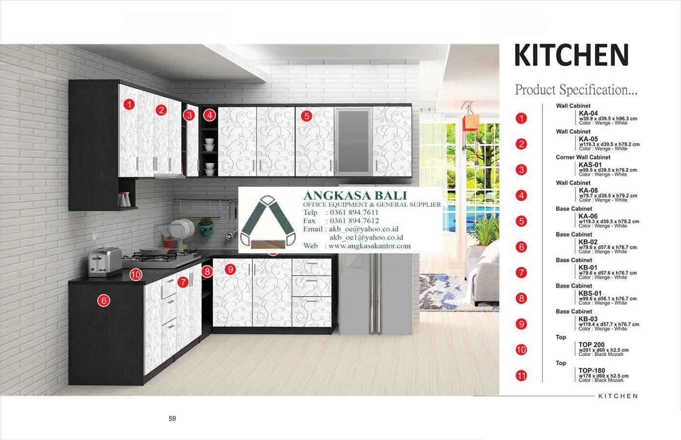 Angkasa bali furniture distributor alat kantor jual kursi for Jual kitchen set surabaya