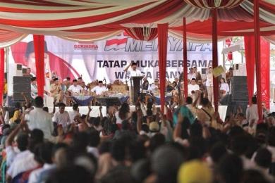 Prabowo: Saya akan kejar elite yang korup