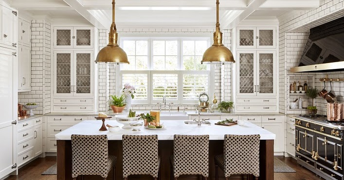 Mix and chic favorite room of the week for House beautiful white kitchens
