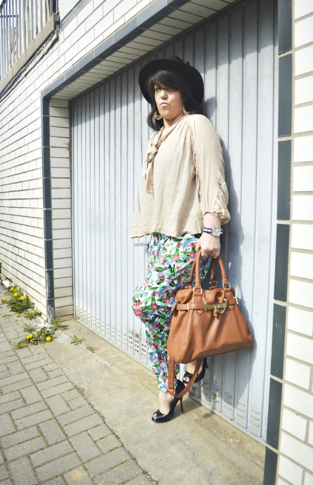 Outfit Post Harem pants & blouse