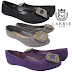 LARRIE Ballerina Rounded Toe Flat Casual Shoe