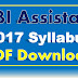 RBI Assistant 2017 Syllabus PDF Download Reserve Bank Of India Assistant Syllabus PDF
