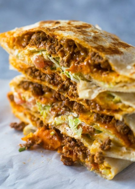 Homemade Beef CrunchWraps