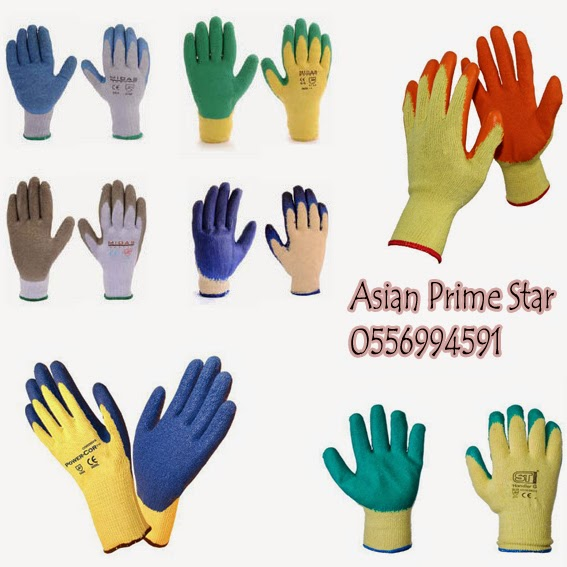 knitted with latex coated wrinkle palm gloves in dubai,uae