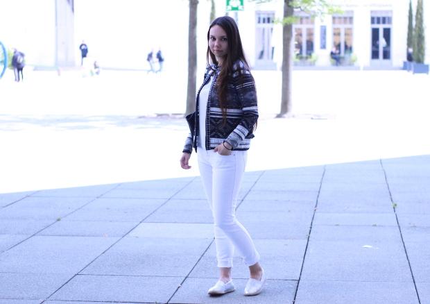 weiße Jeans von zara