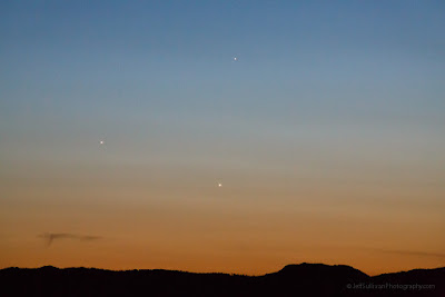 Pursuing the Venus, Jupiter, Mercury conjunction on May 26, 2013, just right with a low horizon.