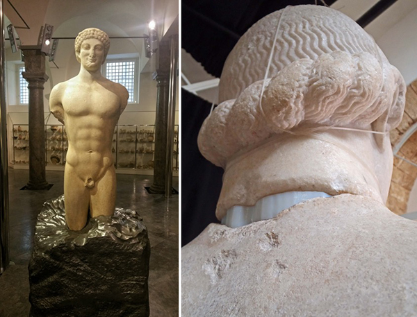 The kouros of Lentini reassembled