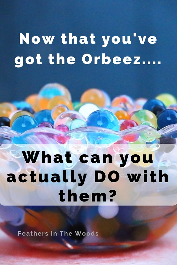 What To Do With Orbeez Water Beads Feathers In The Woods