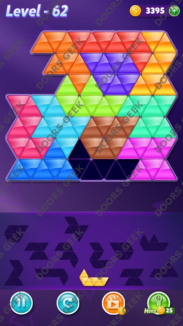 Block! Triangle Puzzle Grandmaster Level 62 Solution, Cheats, Walkthrough for Android, iPhone, iPad and iPod
