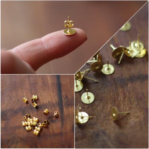 DIY: How To Make Simple Post Earrings   17 Apart