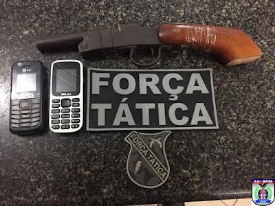 Menores são apreendidos portando arma de fogo em Chapadinha.