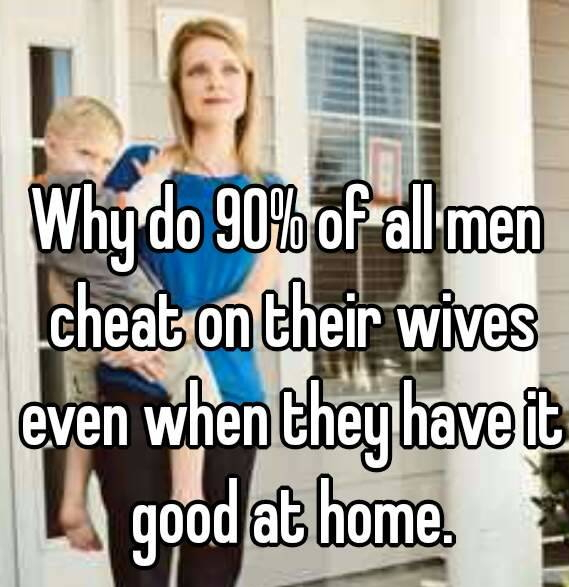 why married men cheat on wives