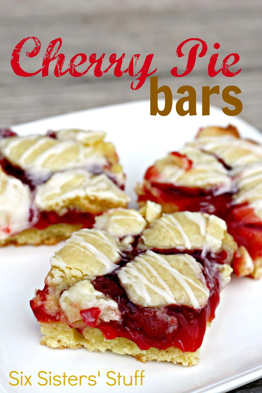 Cherry Pie Bars | Six Sisters' Stuff