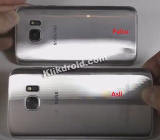 Casing Belakang Samsung S7 Asli dan Palsu
