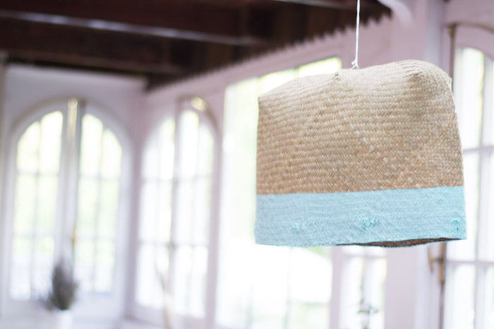 Como hacer una lámpara con una cesta diy