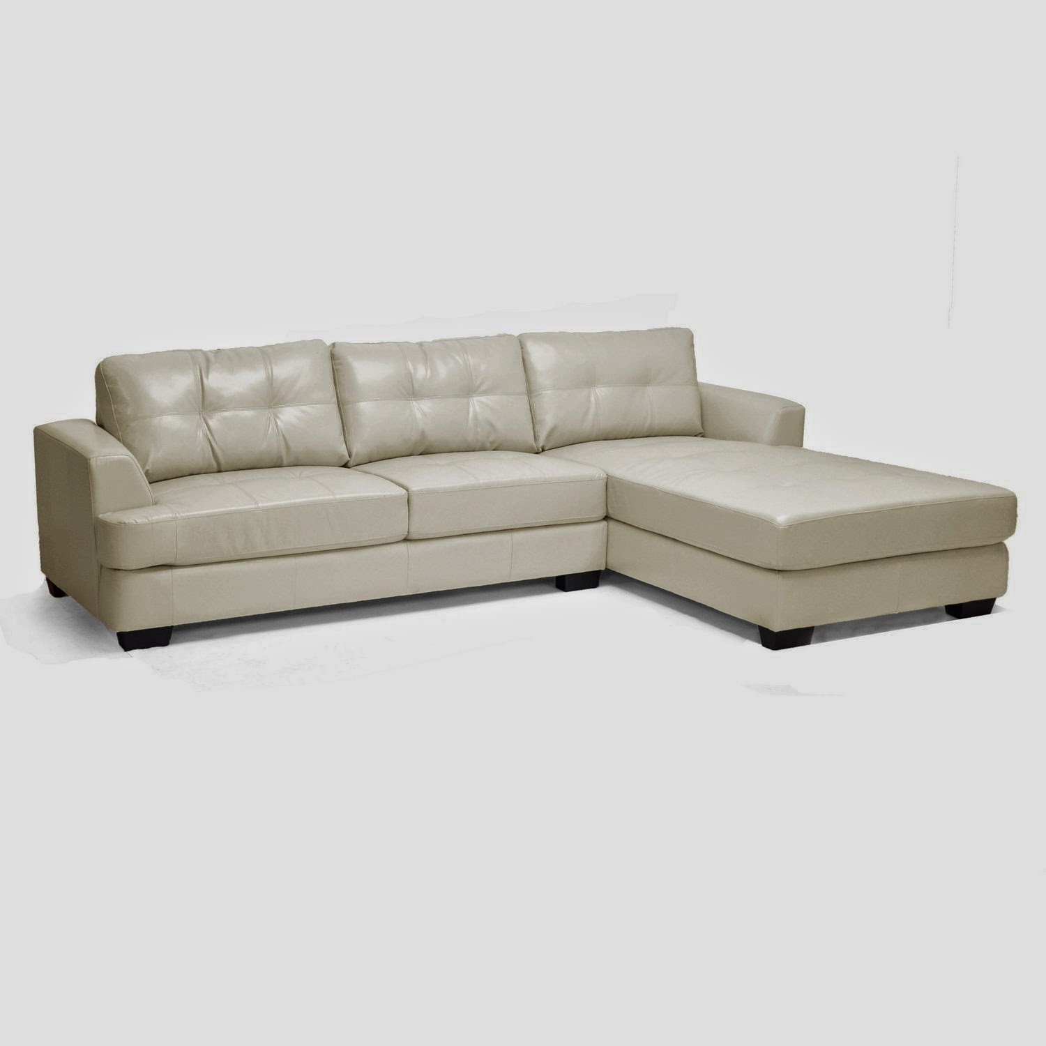 White leather couch white leather couch with chaise for White modern leather sofa