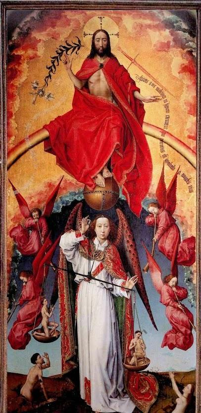 Políptico do Juízo Final. Roger van der Weyden (1400 — 1464). Beaune, Museu do l'Hôtel-Dieu