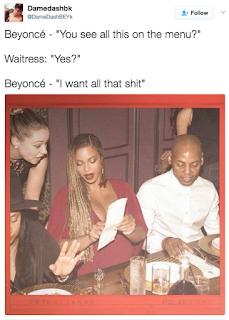 2oORCUi beyonce ordering food menu meme top 10 empire season 4