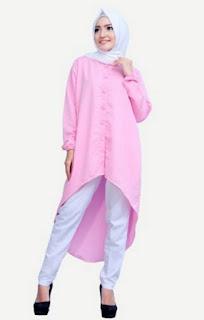 Baju muslim tunik modis untuk remaja