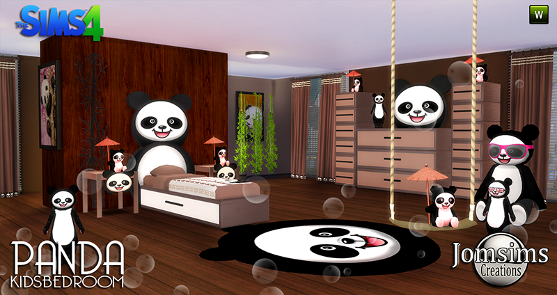 My Sims 4 Blog: Panda Bedroom Set for Kids by JomSims