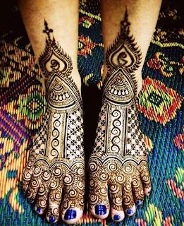 Simple leg mehndi designs