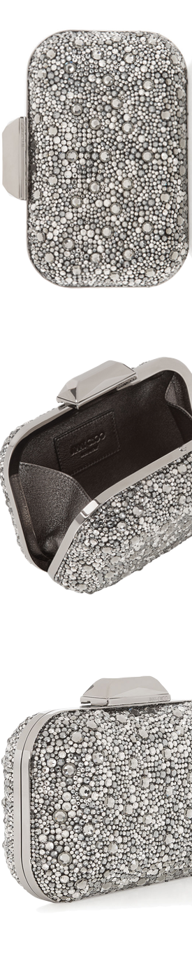 Jimmy Choo Cloud Black Crystal Covered Clutch Bag