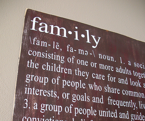Distressed Family Definition Sign Crafts By Amanda