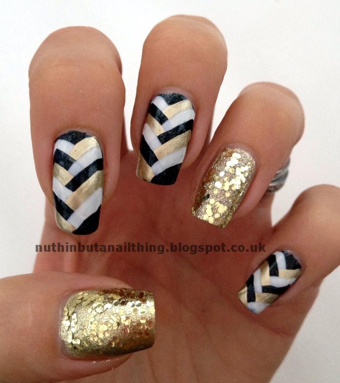 Black And Gold Nails Design 2015 - Reasabaidhean