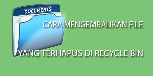 Mungkin anda memiliki file sampah yang banyak di komputer/laptop anda, lalu menghapus menurut anda tidak di gunakan, tetapi anda pernah lupa dan ingat, karena file yang anda sudah hapus permanen di recycle bin adalah file tugas atau file penting yang akan anda gunakan untuk hari esok.