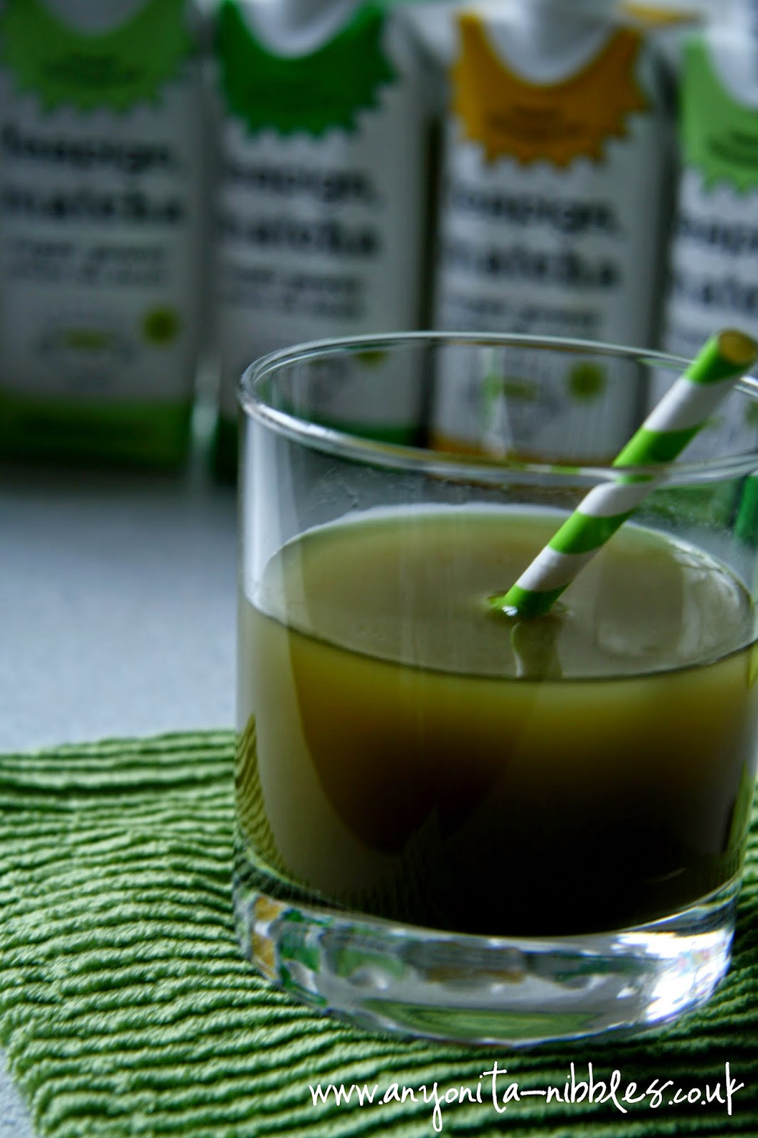 Healthy and delicious, a Teapigs matcha green tea drink from www.anyonita-nibbles.co.uk