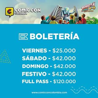 Boletas COMIC CON Bogotá No. 1 2018
