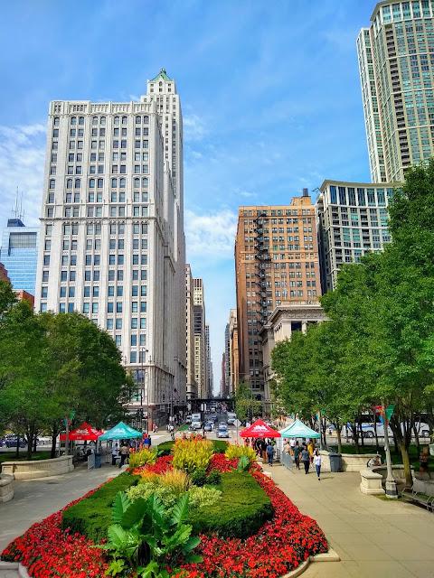 Чикаго. Небольшой парк в городе