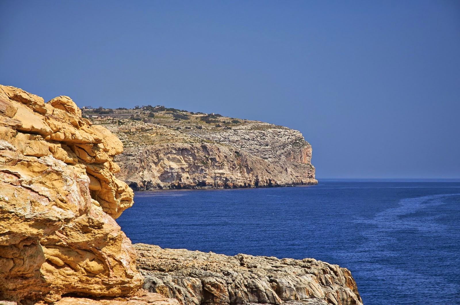piękny kolor morza na Malcie gdzie?