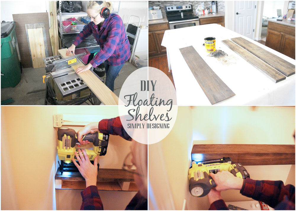 DIY Floating Shelves are really easy to make!  And they are the perfect shelves to build in a small or narrow spaces in your home.