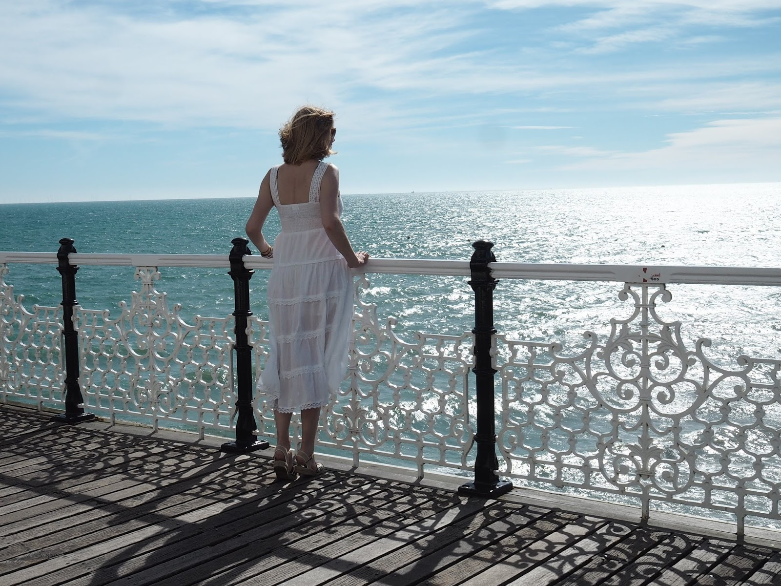 Looking to sea from Brighton Palace Pier