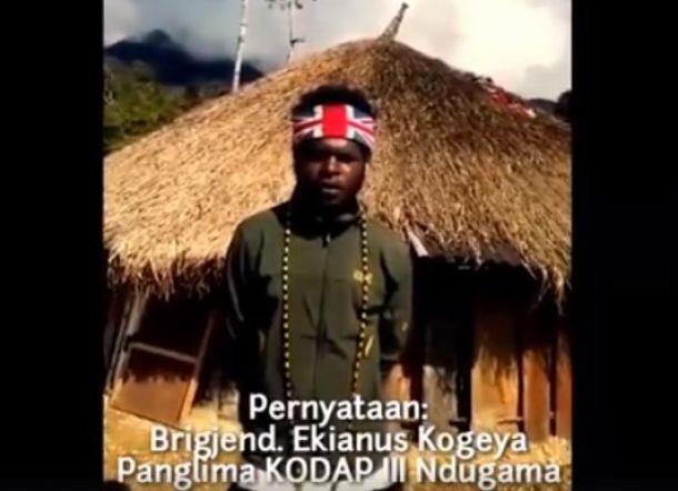 Pakai Ikat Kepala Bendera Inggris, Egianus Kogoya Serukan Boikot Pilpres 2019