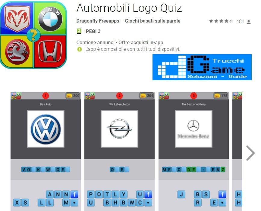 Soluzioni Automobili Logo Quiz | Tutti i livelli risolti con screenshot soluzione