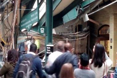 100 جريح في تحطم قطار في ولاية نيوجيرسي