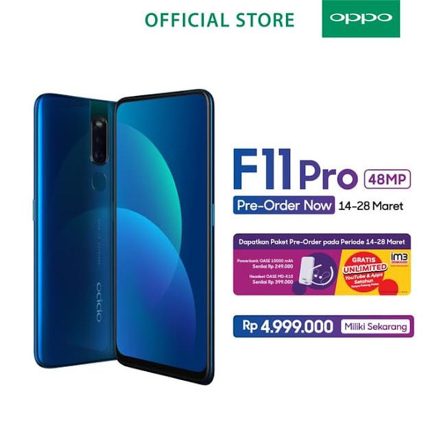 #Tokopedia - #Promo Special OPPO F11 PROMO 48MP Pre Order (s.d 28 Maret 2019)