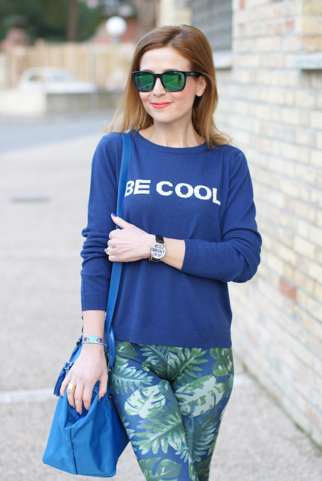 Pins to Kill scattered leaf leggings, Woodstock Zamboon watch, Fashion and Cookies fashion blog, fashion blogger style