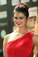 Meenakshi Dixit in Red One Shoulder Red Zipped up gown at IIFA Utsavam Award 46.JPG