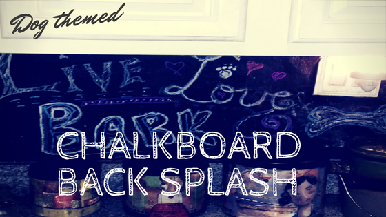 Chalkboard back-splash