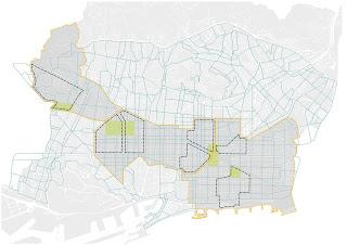 Superblocks road de-trafficking scheme in Barcelona