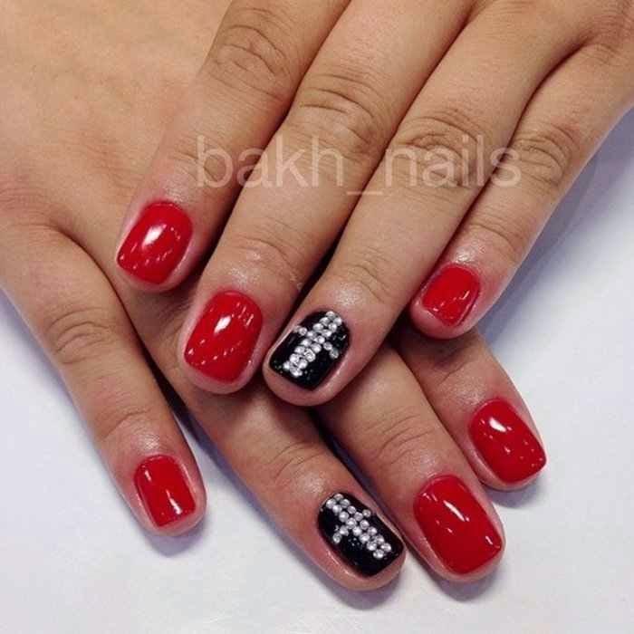 u as decoradas u as decoradas en color rojo dise os y estilos de u as. Black Bedroom Furniture Sets. Home Design Ideas
