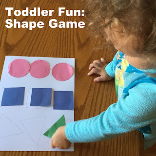 Toddler Fun: Shape Game